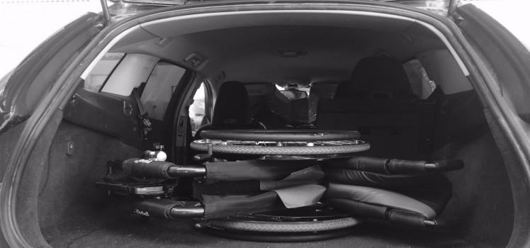 fauteuil dans le coffre
