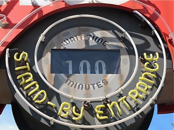 panneau attente 100 minutes Disney